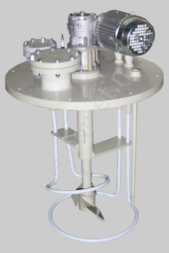 Крышка реактора с лопастной мешалкой и ТЭНами