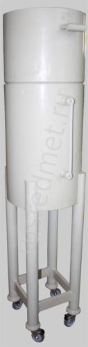 Нутч-фильтр НФП-0,1-400 ПП на ножках с колесами