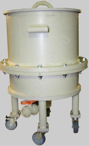 Нутч-фильтр НФП-0,1-400 ПП на колесах