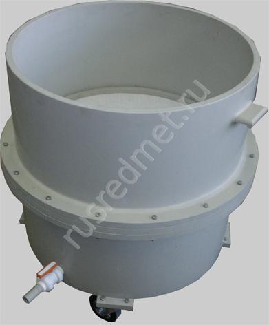 Нутч-фильтр полипропиленовый НФП-0,7-1000 ПП на колесах