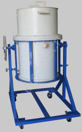 Нутч-фильтр с переворотным механизмом