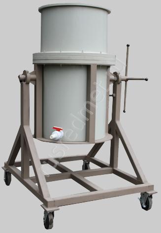 Поворотный нутч-фильтр НФП-0,34-710 ПП