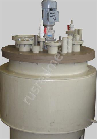 Реактор полипропиленовый с рубашкой охлаждения